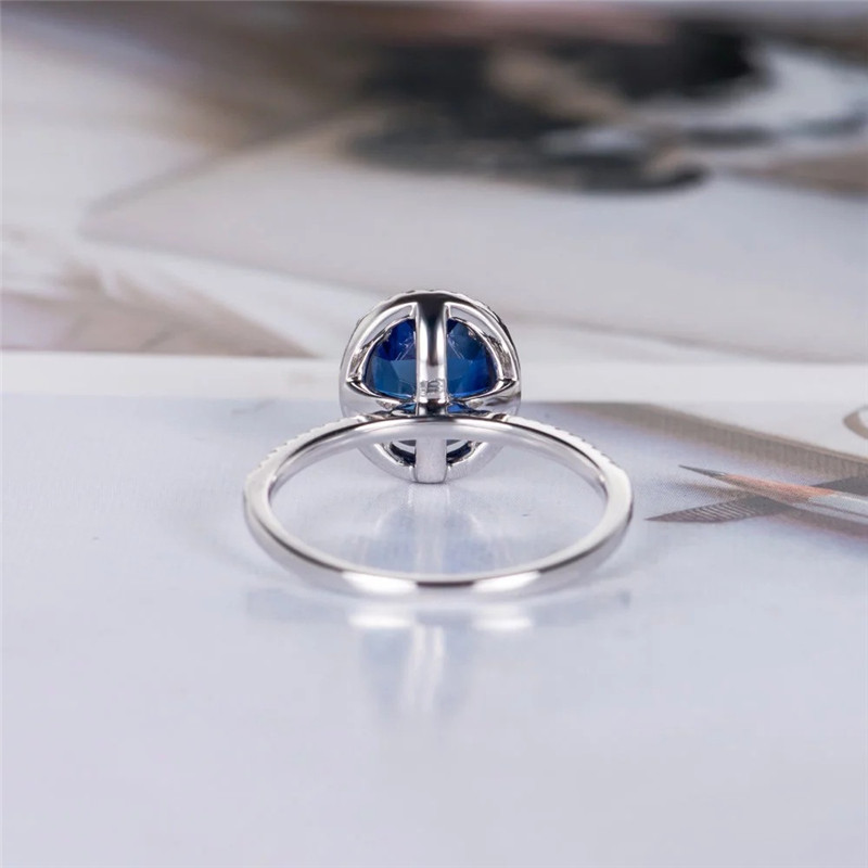 1 PC Royal Blue Round Crystal Women 39 s Zircon Ring Simple Simple Travel Jewelry in Rings from Jewelry amp Accessories