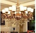 Бесплатная доставка  современный европейский E14 AC хрустальная лампа для гостиной  ресторана  спальни  лампа  роскошный цинковый сплав  свеча...
