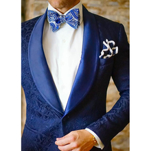 HB064 Men's Royal Blue Tuxedos Slim Fit Groom Suit For Man Latest Men Wedding Suits Terno Masculino Custom Made Coat+Pants