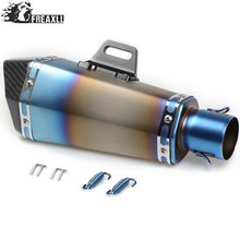 36-51MM Universal Motorcycle Exhaust Pipe muffler Dirt Bike With DB Killer For YAMAHA  NMAX155 NMAX125 150 MT 09 07 BMW E 46