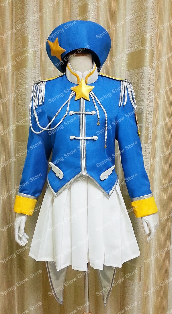 Cardcaptor Sakura Heroine KINOMOTO SAKURA Custom Made Blue Army Uniform Cosplay Costume Illustration Picture Version