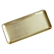 Nordic brass jewelry tray ins style square thickened pure copper receiving plate home bedroom decorative furnishings