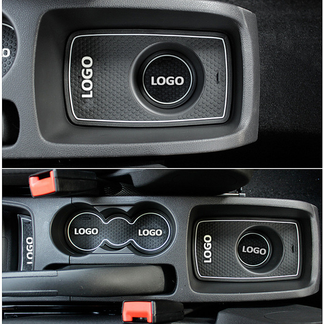 lowest price BACKAR Auto Car Anti-slip Cup Mat Door Slot Pad Interior Decorations For Ford Fiesta 2009 2010 2011 2012 2013 2014 Accessories