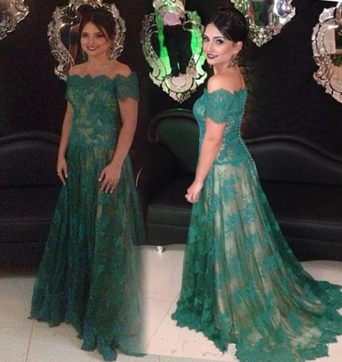 Green Mother of Bride Dresses Tea Length