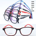 wholesale 5009 dual color full-rim with 180 degree flexible spring hinge kid TR90 walker optical glasses frame free shipping
