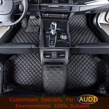 Alfombrillas de coches Para AUDI A1 A3 A4 A5 A6 A7 A8 Q3 Q5 Q7 TT Car styling accesorios alfombras Alfombra felpudos de alfombras A Medida para coche