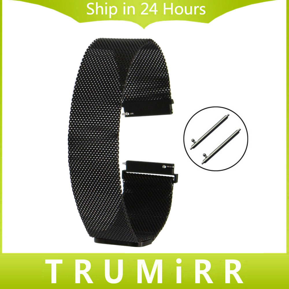Milanese Loop Watch Band Stainless Steel Magnetic Strap for Fossil Q Tailor Gazer Founder Wander Crewmaster Grant Marshal Nate crested milanese loop strap metal frame for fitbit blaze stainless steel watch band magnetic lock bracelet wristwatch bracelet