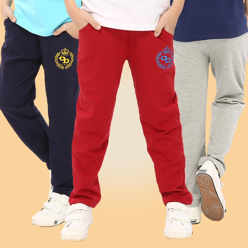 New Kids Pants Boys Cotton Casual Sports Pants Fashion Letter Print Baby Pants Children Clothing