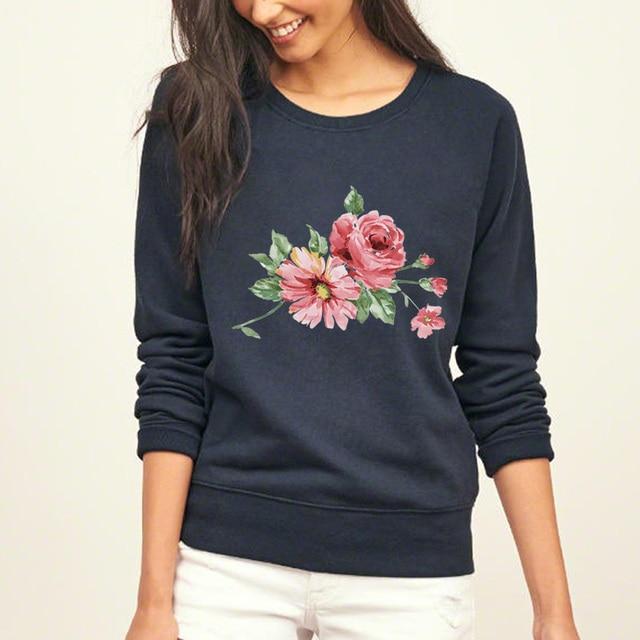 Cute Flower Print Jumper