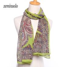 Fashion Chiffon Somen Scarf Imitated Silk Ladies Scarves Shawl Print Polyster Homen 160*50cm Hijab