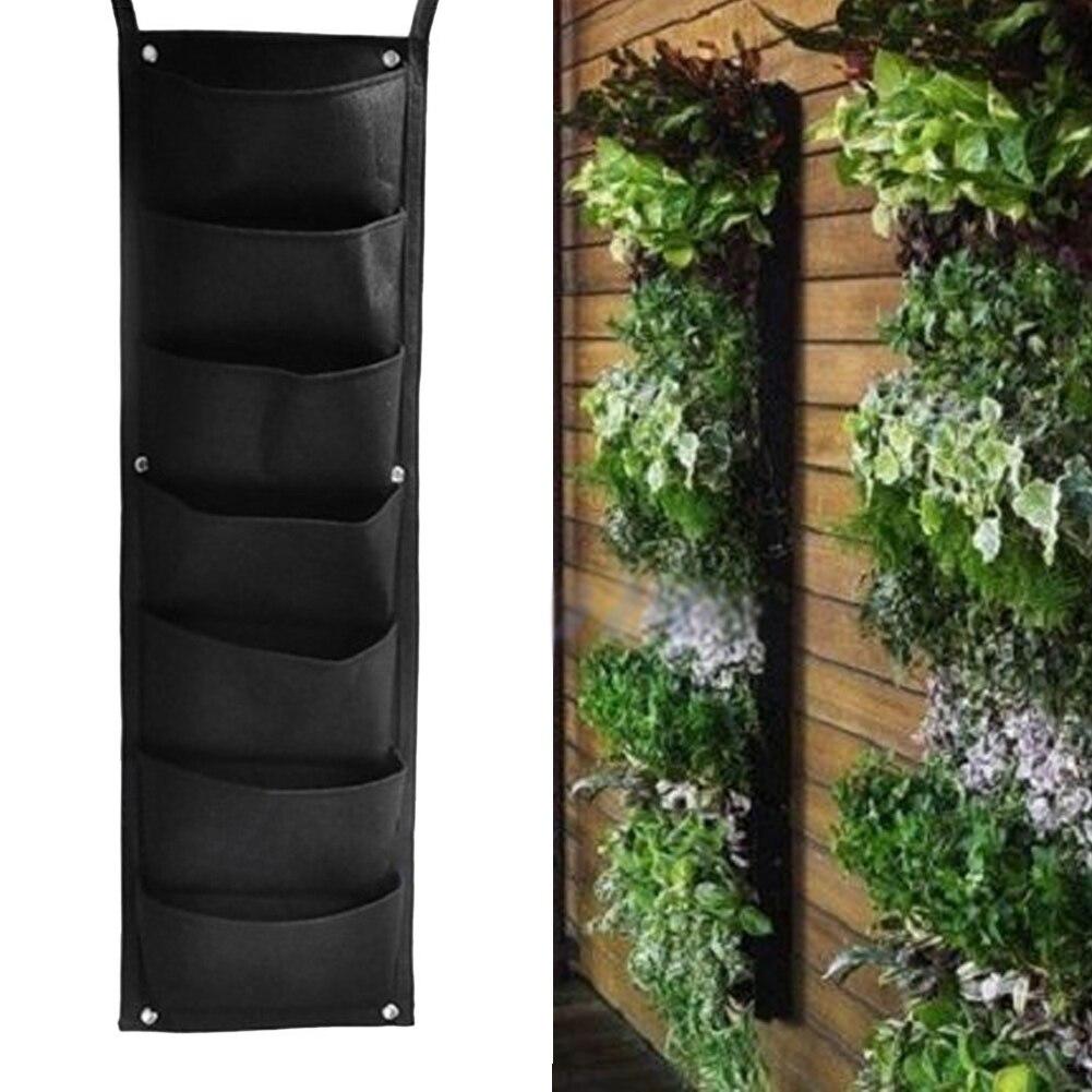 Aliexpress.com : Buy 7 Pockets Hanging Vertical Garden Planter Indoor /  Outdoor Herb Pot Decor FLOWER POT WALL HANGING FLOWER PLANTER BAG From  Reliable ...