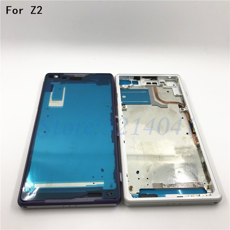 Bezel Replacement Front Middle Frame For Sony Xperia Z2 L50w D6503 D6502 Front housing Middle LCD Frame Plate Chassis
