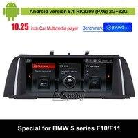 Android 8,1 автомобильный аудио Vdieo плеер для BMW 5 серии F10/F11 (2016 2011 CIC вариант НБТ) автомобиль оригинальный экран для обновления