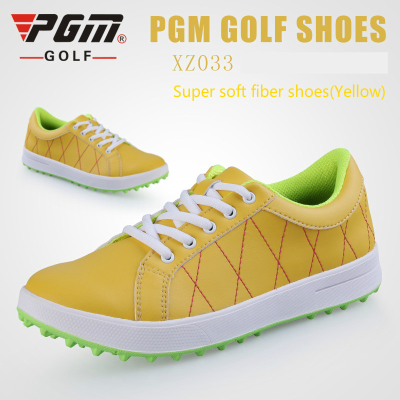 PGM Woman waterproof Microfiber Leather Golf shoes breathable golf sneakers Non-slip wear-resistant No shoes nails golf shoes golf shoes women golf shoes golf cowhide slip resistant waterproof sport shoes genuine leather rubber sole