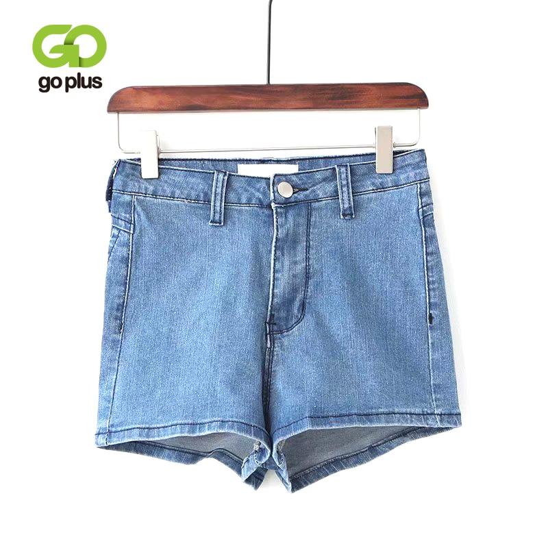 GOPLUS Women Vintage Slim Denim   Shorts   High Waist Skinny Stretched   Shorts   2019 Summer Streetwear Sexy Women   Shorts   Feminino