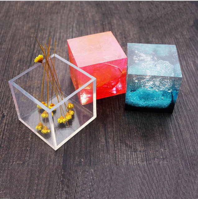 US $2 58 |TJP Transparent Square Silicone Pendant Mould For Resin Real  Flower DIY Mold Jewelry Bangle Mould epoxy resin molds for Jewelry-in  Jewelry