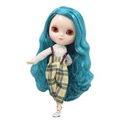 ICY Fortuna Dias fábrica azone corpo joint 30 centímetros de pele branco Azul cor misturada cabelo cachos DIY sd presente brinquedo