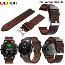 Luxury Leather Strap wrist watch Band Genuine Leather Watchband bracelet watch strap for Garmin Fenix 5S wristband Replacement цена