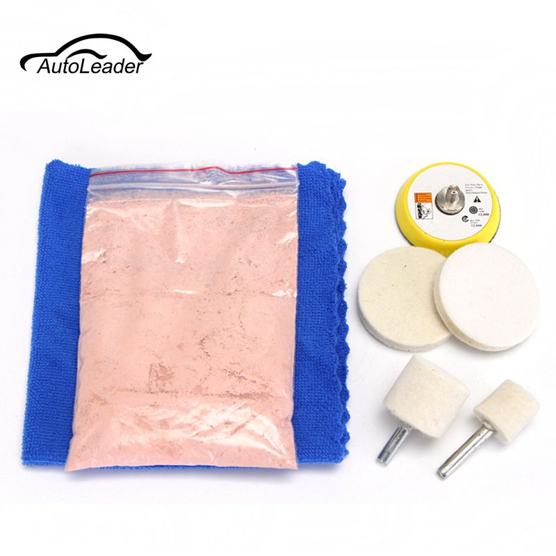 New Arrival 7PCS Glass Scrach Remover 70g Cerium Oxide Polishing Kit and 2 inch Wheel ...