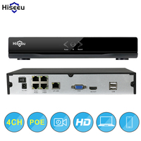 4CH POE NVR CCTV 48V IEEE802 3af Security NVR PoE Switch Inside DVR Network Video Recorder