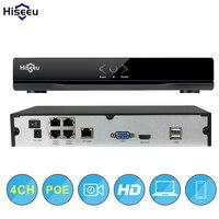 4CH POE NVR CCTV 48V IEEE802 3af Security NVR PoE Switch Inside DVR Network Video Recorder