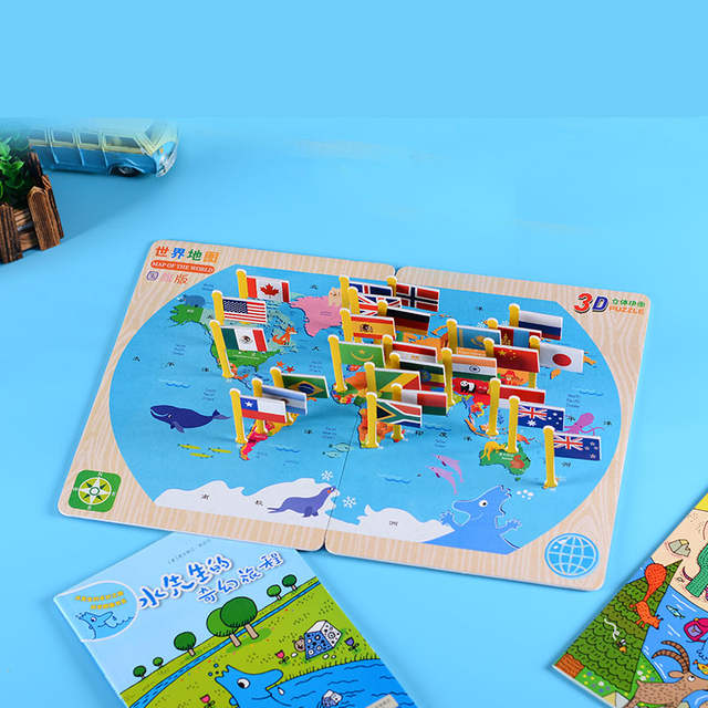 US $4.99 5% OFF|DDWE Kids DIY Paper World Map Flag puzzle Craft Kits on kindergarten science curriculum map, book me on the map, kindergarten animals, kindergarten solar system map, kindergarten map activity,