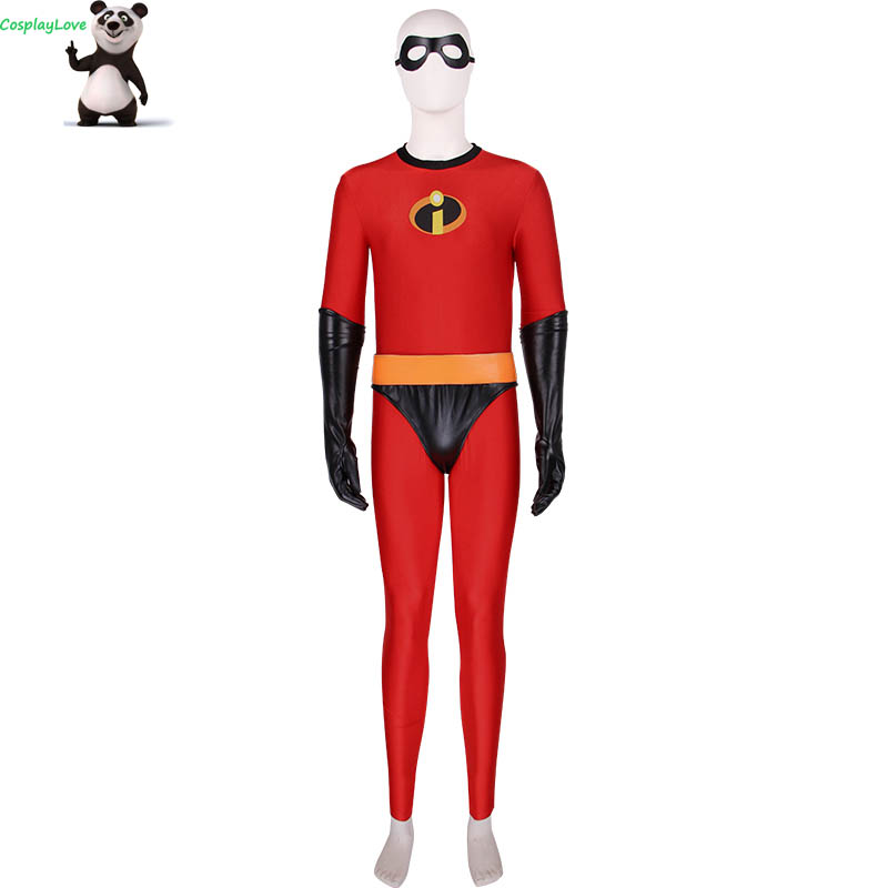 Movie Incredibles 2 Bob Parr Cosplay Costume Jumpsuit Elastic Costumes For Christmas CosplayLove
