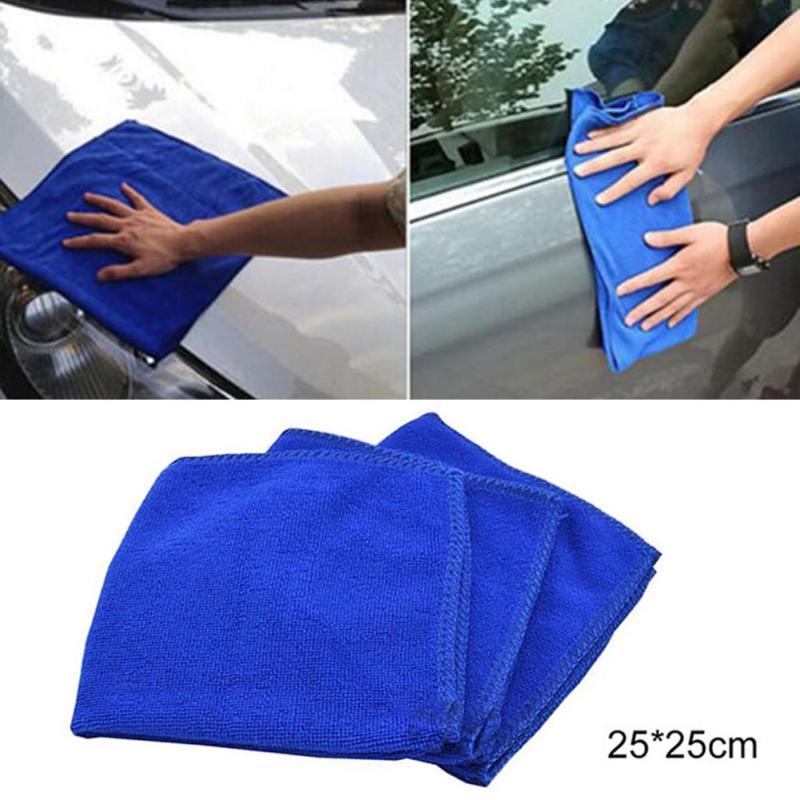 New 5Pcs Soft Absorbent Wash Cloth Car Auto Care Microfiber Cleaning Towels F2-16L