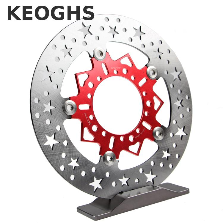 Keoghs Motorcycle Brake Disc Disk 260mm Diameter Star Hole For Yamaha Scooter Cygnus Replace Modify keoghs motorcycle brake disc floating 220mm 70mm hole to hole for yamaha scooter honda modify