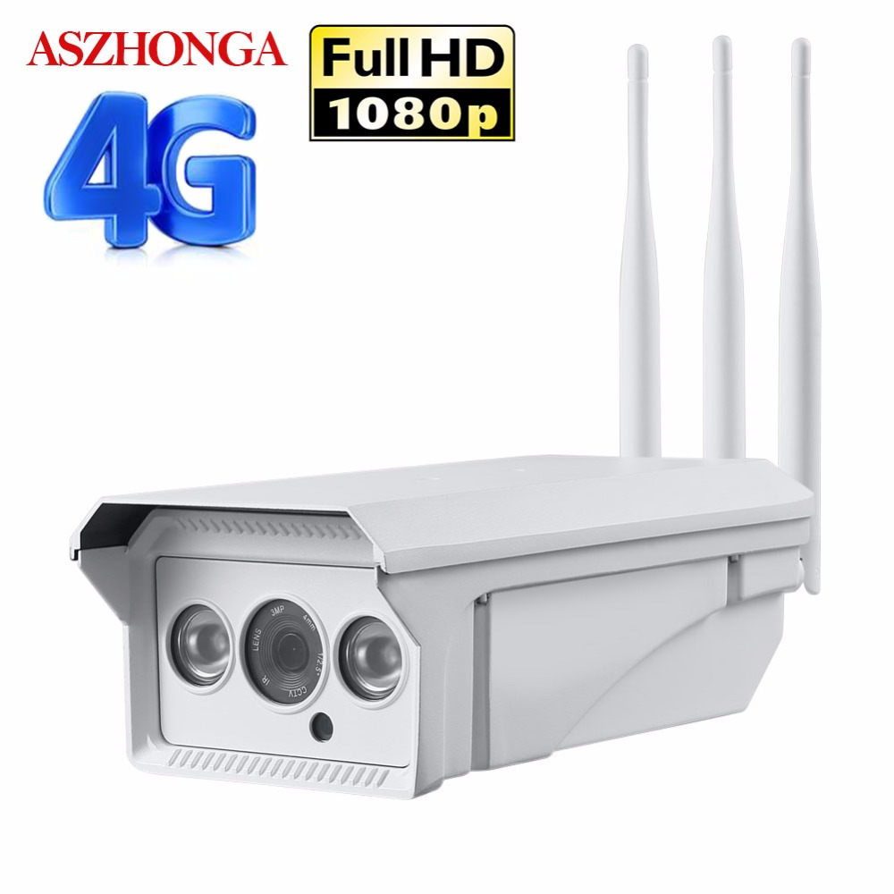 1080P HD 3G 4G SIM Card Wireless GSM IP Camera Wifi 2MP Outdoor Waterproof Bullet IR Motion Detection P2P CCTV Security Camera-in Surveillance Cameras from Security & Protection    1