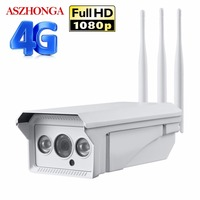 1080P HD 3G 4G SIM Card Wireless GSM IP Camera Wifi 2MP Outdoor Waterproof Bullet IR Motion Detection P2P CCTV Security Camera