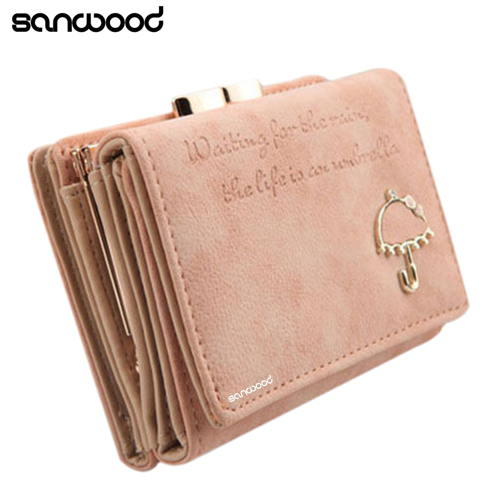 2015 Women Umbrella Faux Leather Clutch Trifold Wallet Credit Card Holder Hot 2015 6NYD