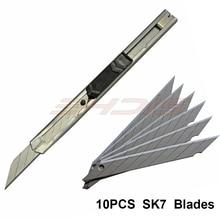 Ehdis выхватить Ножи мини Универсальный нож Нержавеющаясталь 30 градусов DIY Книги по искусству Ножи автомобиля Плёнки Бумага Резка Инструменты выхватить лезвия