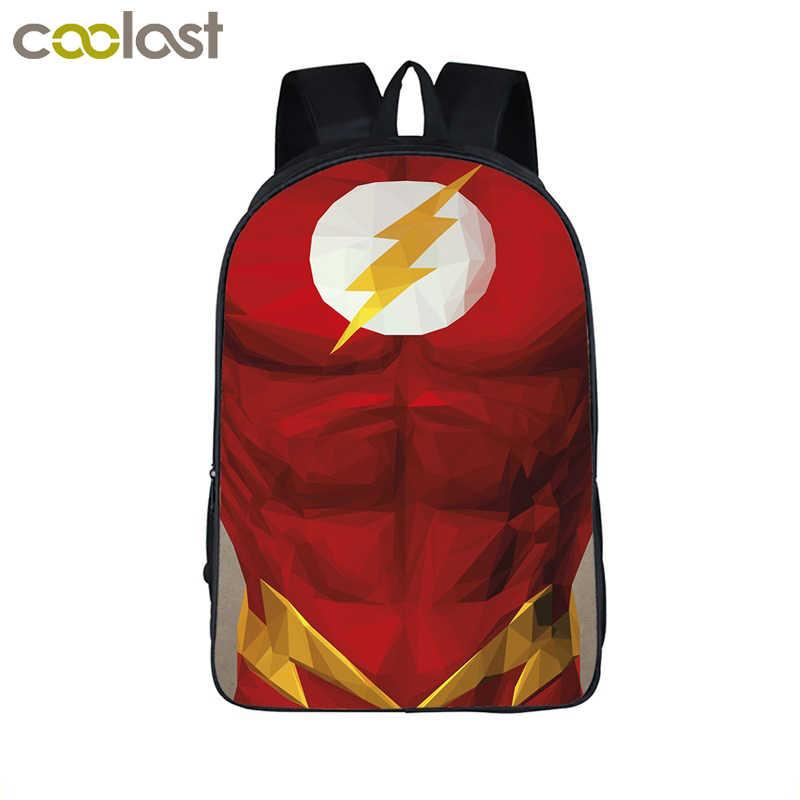 7b88b512a214 The Flash Superman Wonder Woman Batman Children School Shoulder bags  backpack Comics Hero Backpack For Teenager