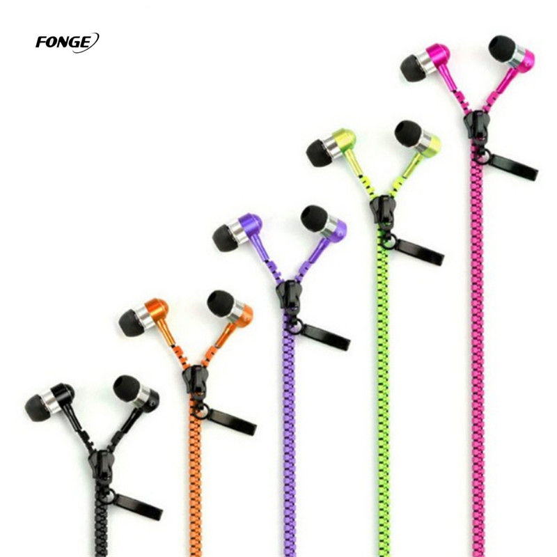 New Microphone Earbuds Premium 3.5mm Tangle-Free Zipper Headphone Headset Mp3 Stereo Bass Headphones Zipper Earphone with Mic rock y10 stereo headphone earphone microphone stereo bass wired headset for music computer game with mic