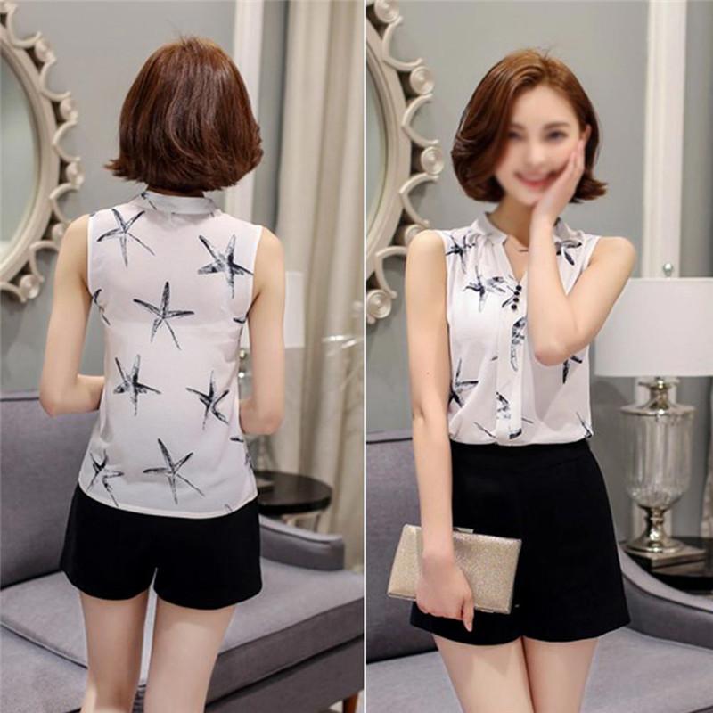 HTB1MNiEQVXXXXaNapXXq6xXFXXX9 - Sleeveless Chiffon Office Shirts Blusa Womens 3XL Plus Size Tunic