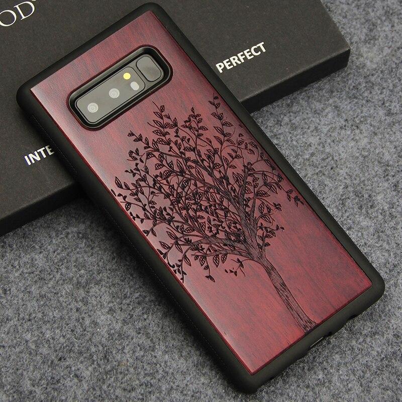 Para Samsung Nota 8 caso de lujo de madera Totem árbol flor de la cubierta para Samsung Galaxy Note 8 9 suave TPU protección de casos del teléfono