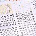 30 шт. 3D Цветок Ногтей Наклейки Цветок Маникюр Советы Ногтей Смешанные Наклейки Наклейки DIY Nail Art Клей Наклейки Украшения FE #8