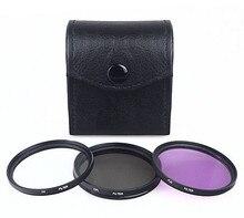 Camera lens filter 55mm CPL UV FLD filter kit for Canon EOS 500D 550D nikon pentax sony camera