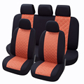 Seat covers 9 pieces styling silk  material smooth full  sets universal fits most car decoration  car seat cushion