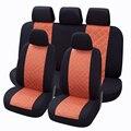 Asientos para 9 unidades de peinado material de seda suave juegos completos universal cabe la mayoría de la decoración del coche cojín del asiento de coche