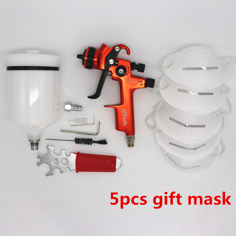 New LVMP spray gun car paint gun 600cc tank Gravity spray gun with 1 3mm nozzle
