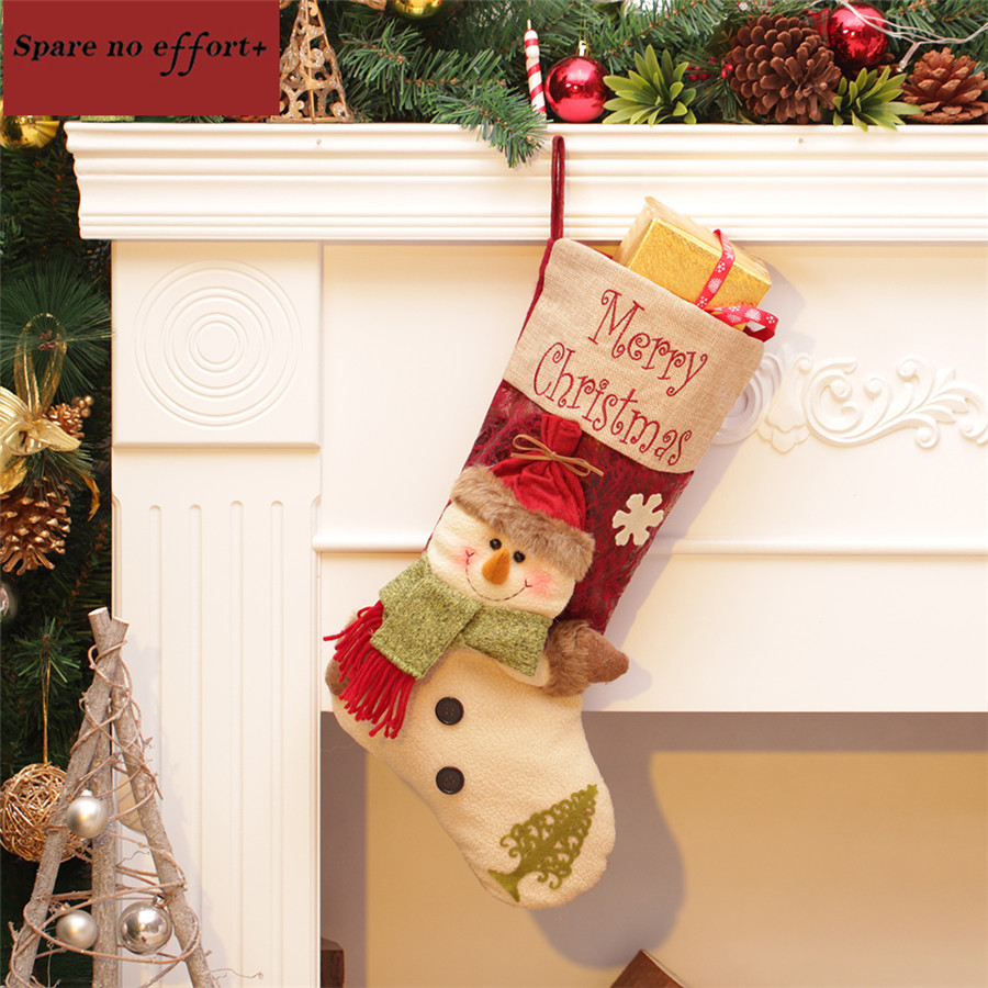 Personalized Kids Christmas Gifts Large Canvas Christmas Stocking ...
