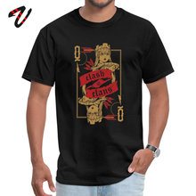 Custom Archer queen T-shirts for Male Slim Fit Summer Autumn Round Neck All Cotton Supernatural Videogame Top