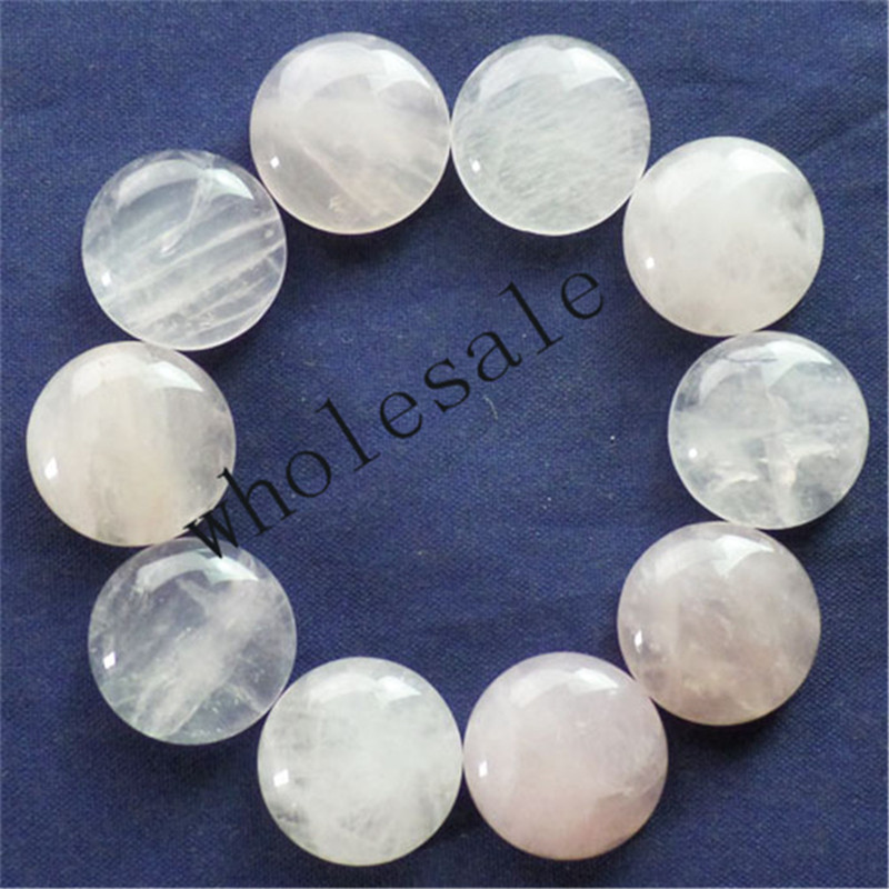 (12 pieces/lot) Wholesale Rose Quartzs Round CAB CABOCHON 16mm Free Shipping Fashion Jewelry ZC00022