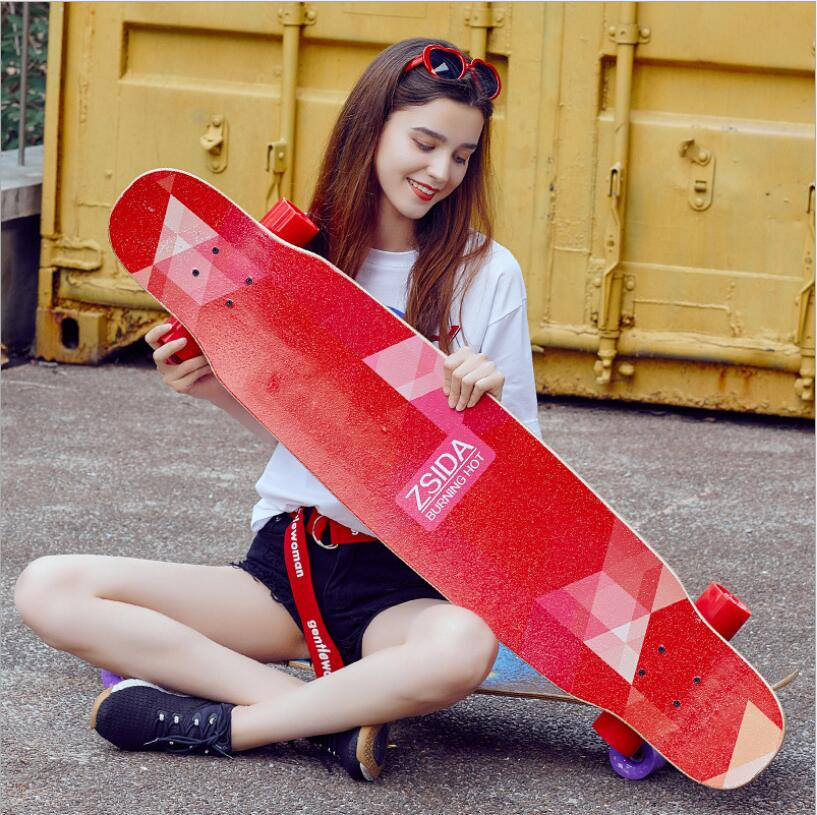 Pro Skate Board Canadian Maple 118CM Longboard Skateboard Cruiser Four Wheels Street Deck Waveboard Balance Free Shipping