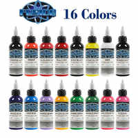 16 Pcs Tattoo Ink Set 1oz Pigment Kit for Tatoo Permanent Makeup Ink for Body Painting Tattoo & Body Art Pigment