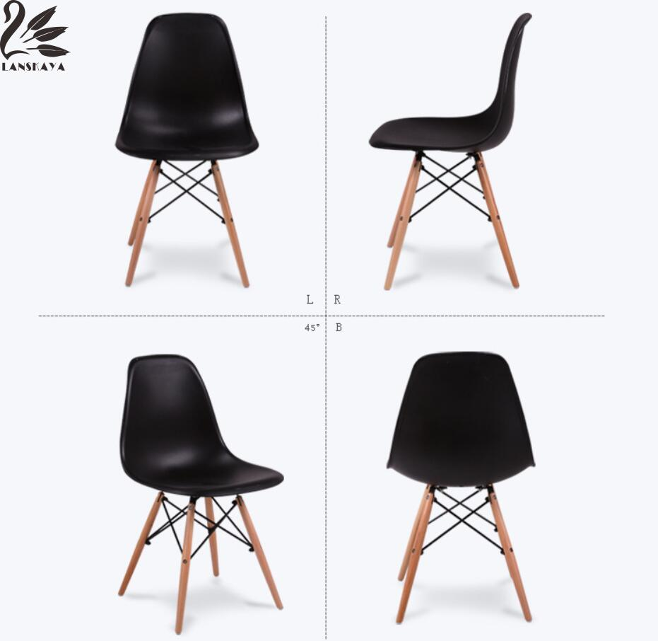 2018 Lanskaya Plastic Modern Minimalist Dining Chairs Furniture Chair Stool Design  Modern Leisure lanskaya creative modern minimalist fashion mobile landing tree coat hook home furniture clothes hanger
