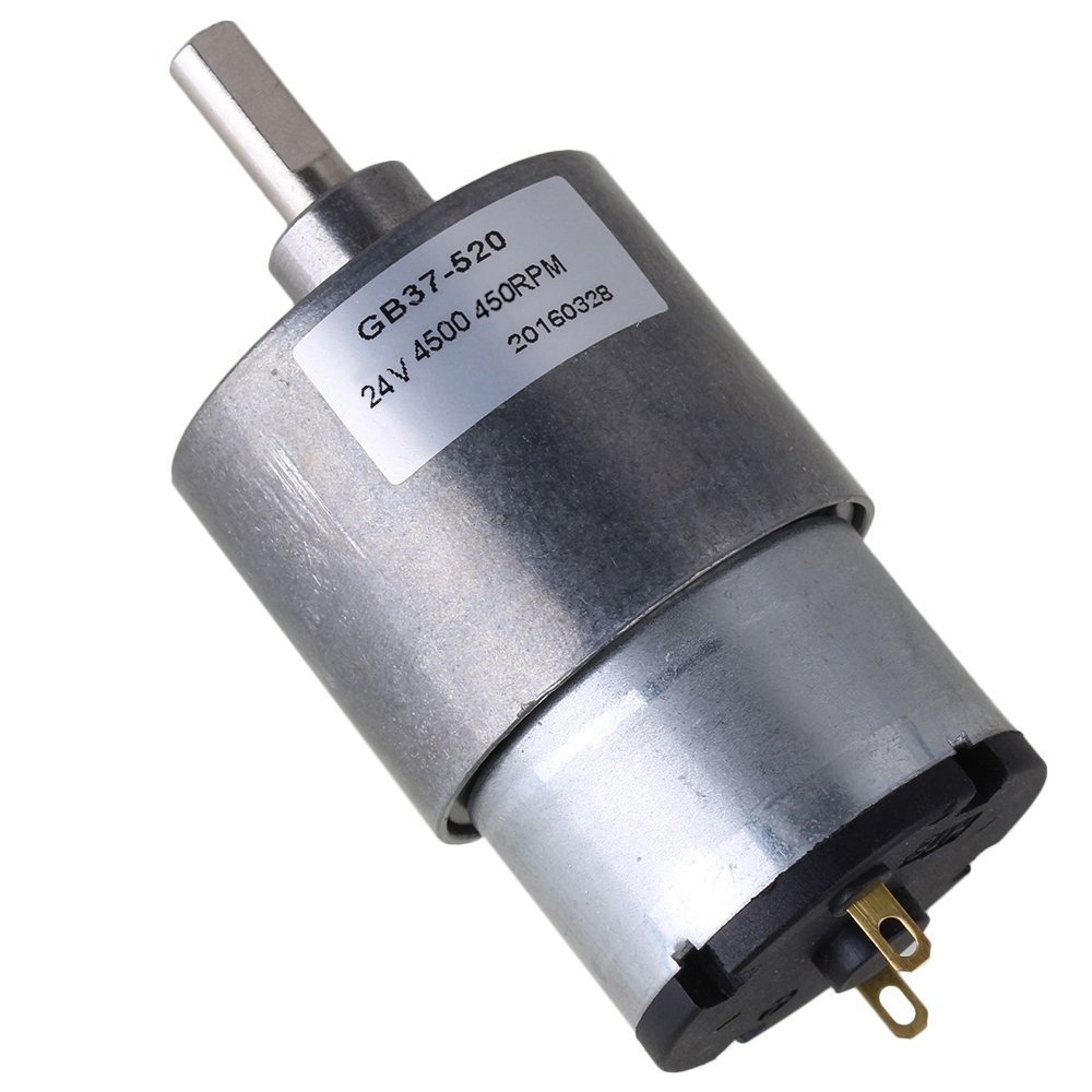 37mm 450RPM Reduce Speed 24v Miniature Electric DC Geared Motors with Metal Gear Box for Automatic Actuator