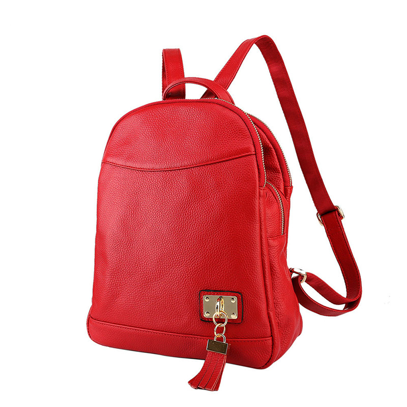 Genuine Leather Women Backpack For Travel Antitheft Pocket Female Bolsas Tassel Waterproof Shoulder Bags School Bag High Quality